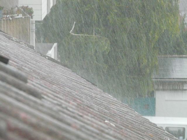 Evacuation des eaux de pluie le long d'une toiture