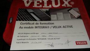 Certificat de la formation Integra / Velux Active